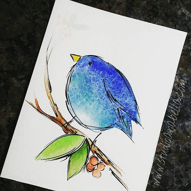 Watercolor birdie 🐤 #watercolor #aquarelle #aquarelletattoo #colortattoo #watercolor #watercolors #