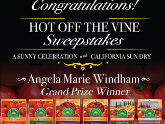 Hot Off The Vine Sweepstakes Winners!