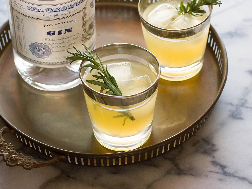 Charred Lemon Gin Sparkler