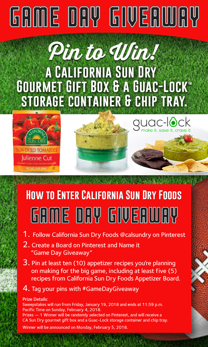 Game Day Giveaway Social Sweepstakes! | calsundry
