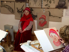 Mother Christmas visits