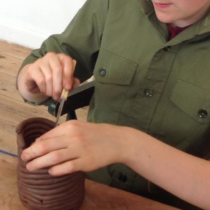 Coiling a Pot