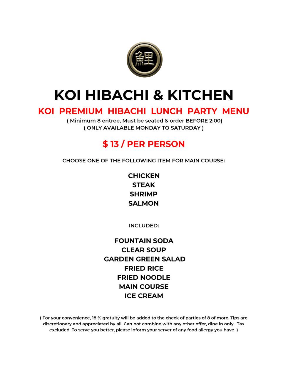Koi Hibachi Sushi Party Tray $49.95-3.jp