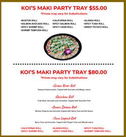 MAKI PARTY TRAY $55 $80
