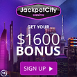 JackpotCity Banner Up to $1,600 Welcome Bonus