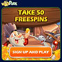 Winspark_gif_goldrush 50 Free Spins Offer