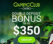 GamingClub Banner Double Deposit Offer