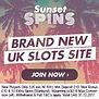 SunsetSpins Banner £10 Bonus + 10 Free Spins