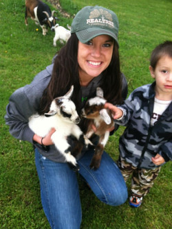 Baby goats known as kids.