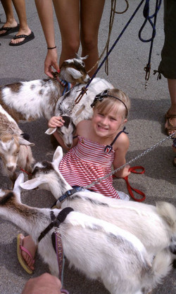 Hailey and the goats!