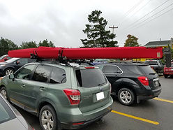 Kayak cover in red