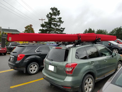 Solid red kayak cover