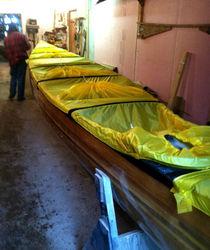 Silnylon voyager canoe deck