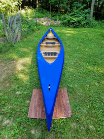 Solid blue canoe cover