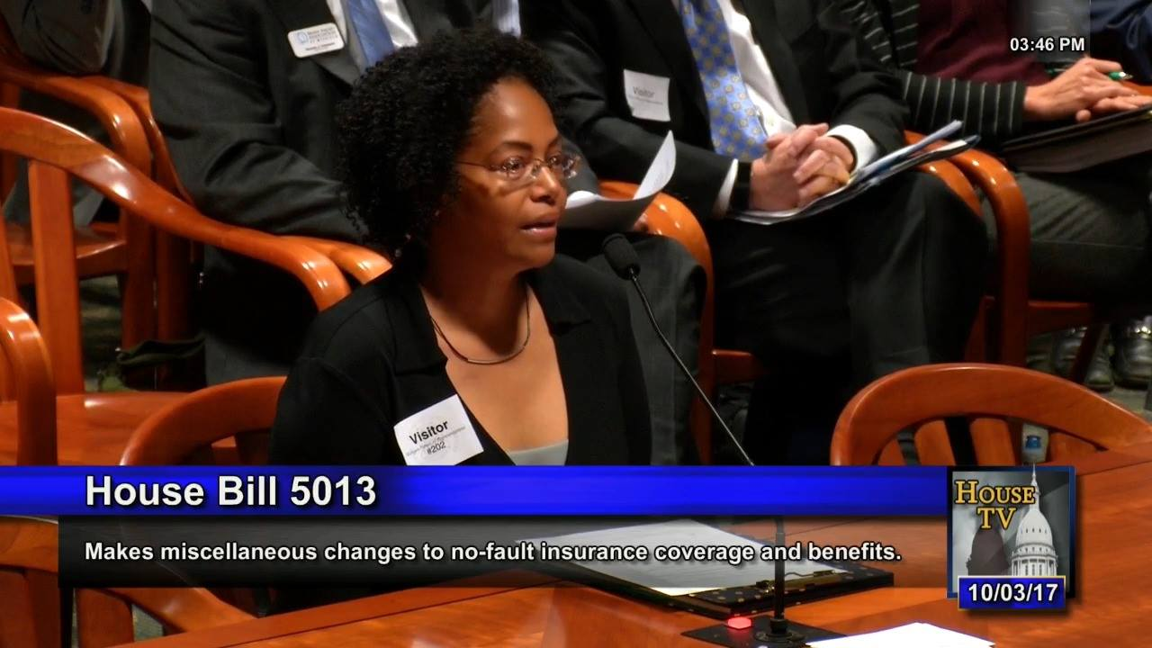 Karen Whitsett testifies at House Insurance Committee