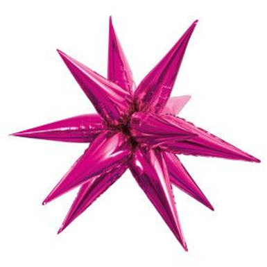 """Balloon Foil 28"""" Star Hot Pink"""