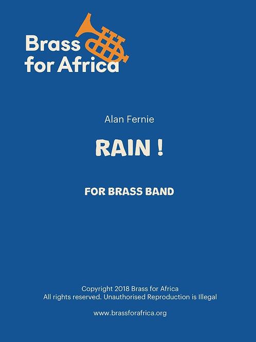 RAIN! for Brass Band, by Alan Fernie