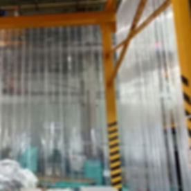 PVC Strip Curtain installation