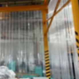 PVC Strip Curtain installation
