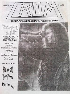 Issue # 5 of the original C.R.O.M. printed fanzine.
