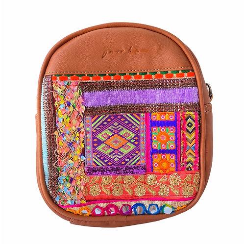 Mini Bonbon Cross Body Backpack Camel