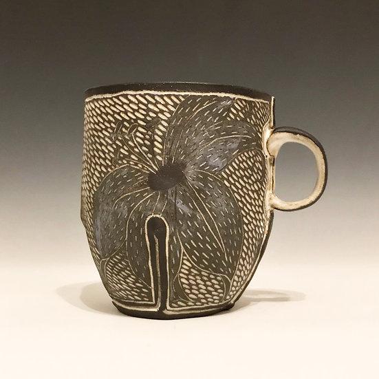 small flower mug