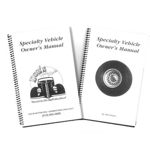 Owner's Manuals (Please Call in to Order)