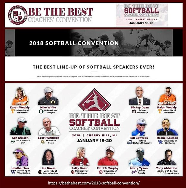 Tony Abbatine at Be the Best softball 2018