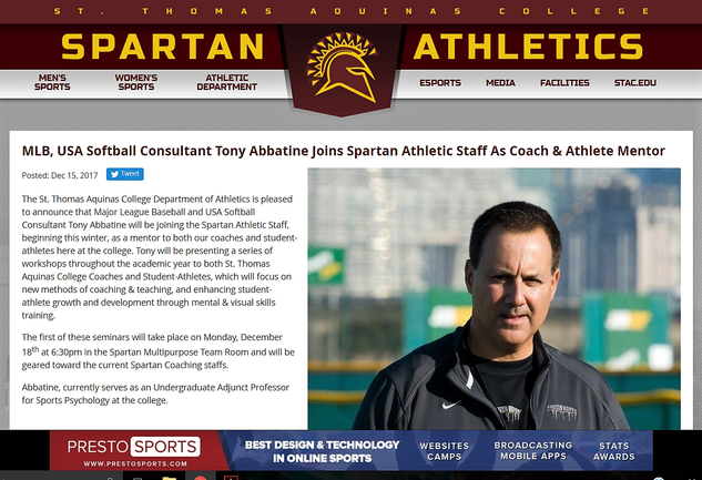 Abbatine announced as STAC Mentor