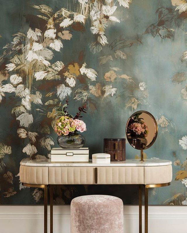 I saw this wallpaper at a design show over a year ago and fell in love with the soft paint strokes &
