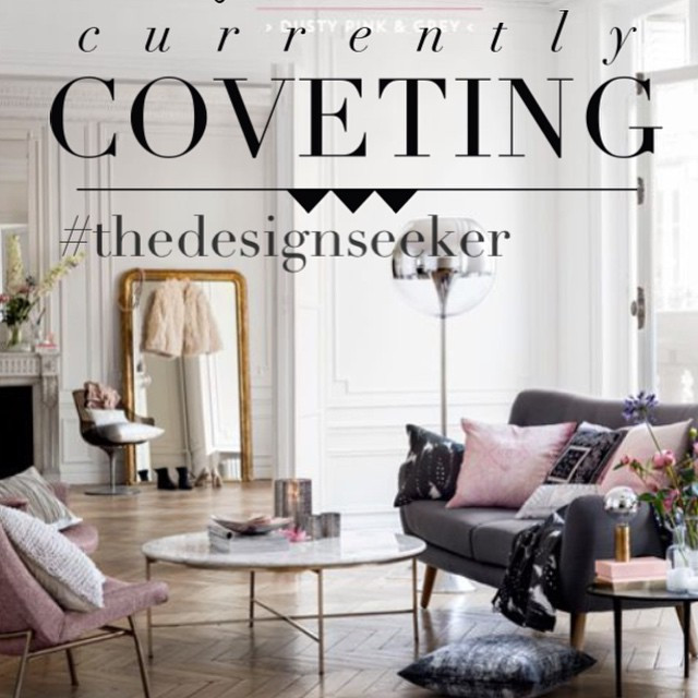 Instagram - #currentlycoveting #thedesignseeker #duskypink #interiorinspo #inter