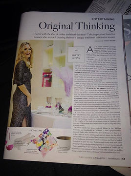 gloss magazine featuring interior designer suzie mc adam