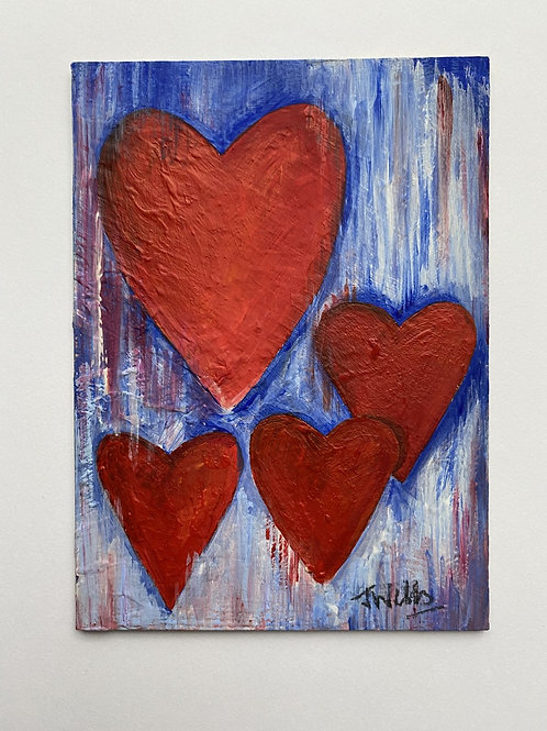 Hearts - Red and Blues