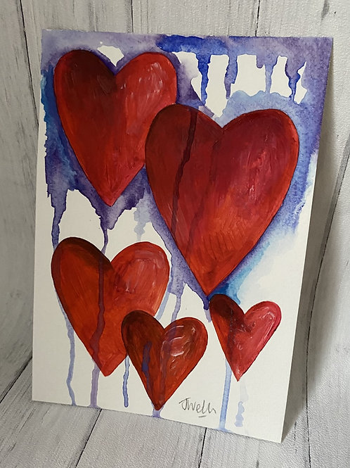 Heart Mixed Media Purple