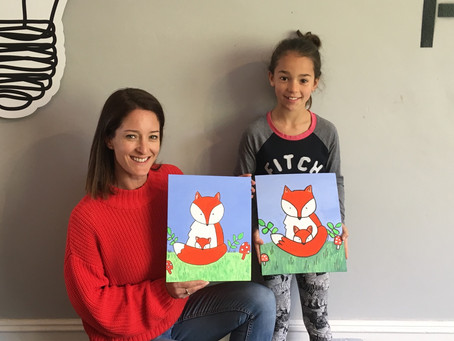 Fabulous afternoon painting Foxes 🦊🎨