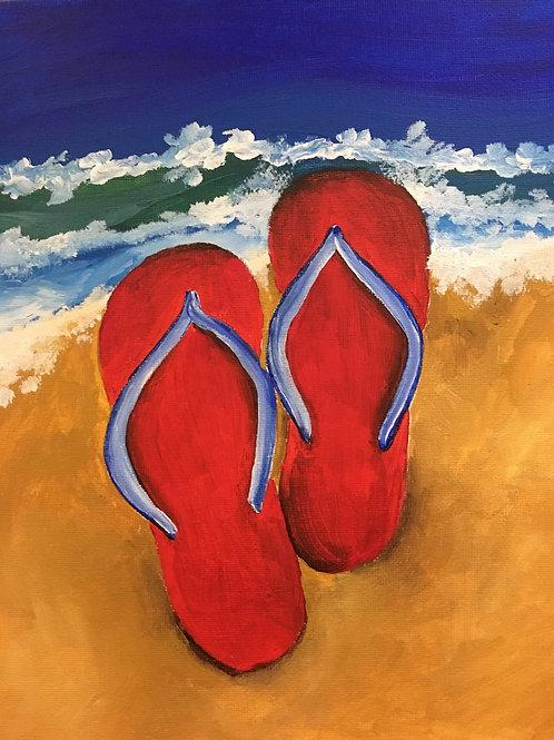 Art to Go! Flip flops