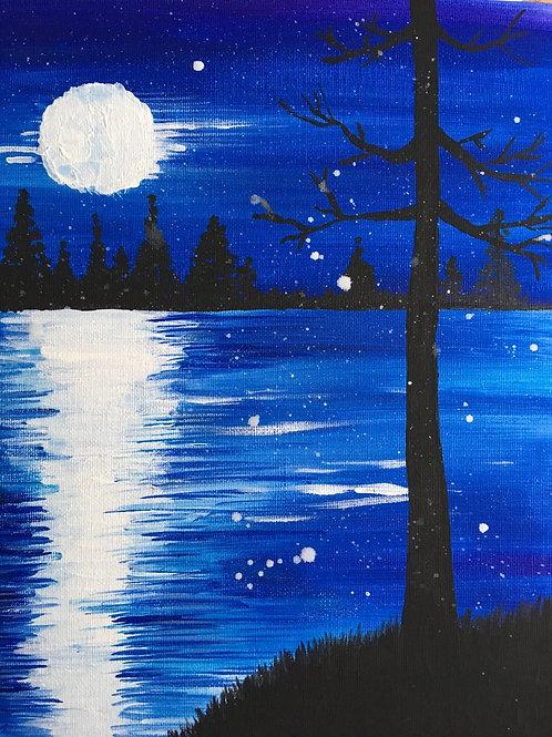 Art to Go! Winter Blue Landscape