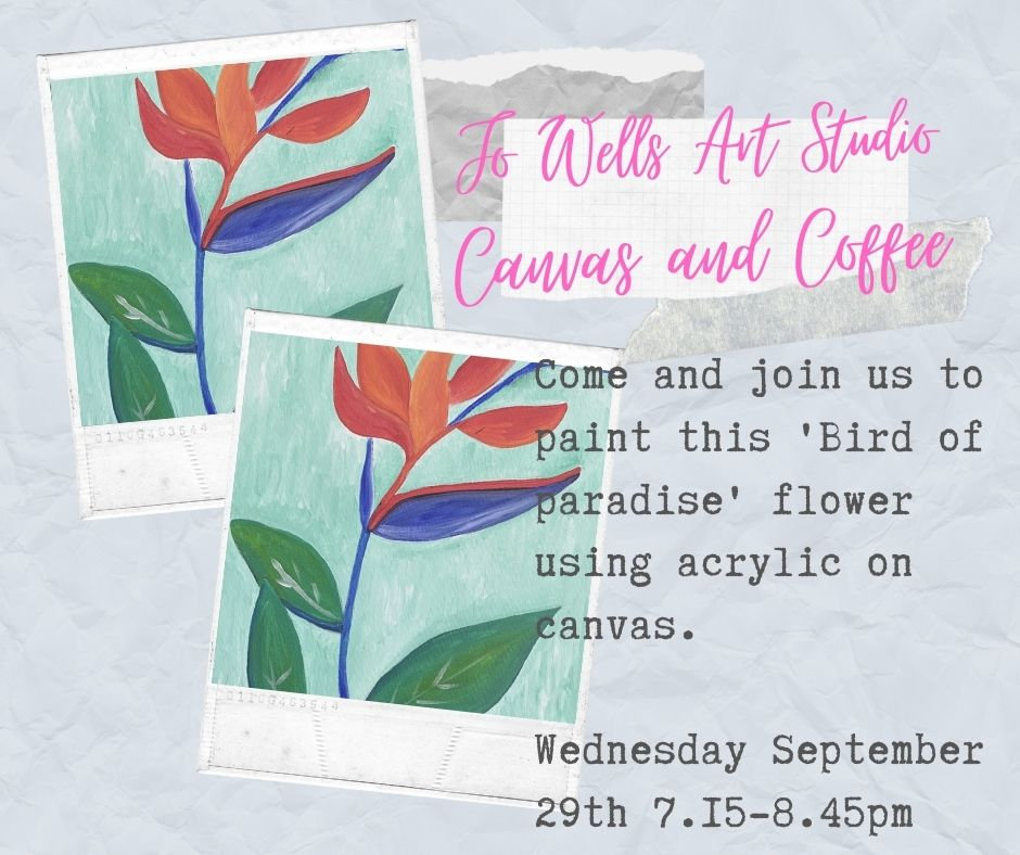 Bird of Paradise Canvas and Coffee