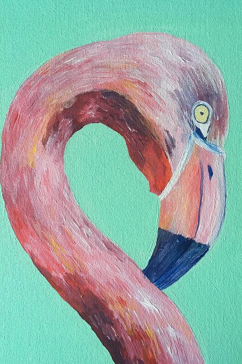 Art to Go! Pink Flamingo.