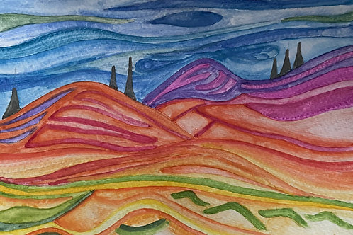 Watercolour Art To Go! Abstract Landscape