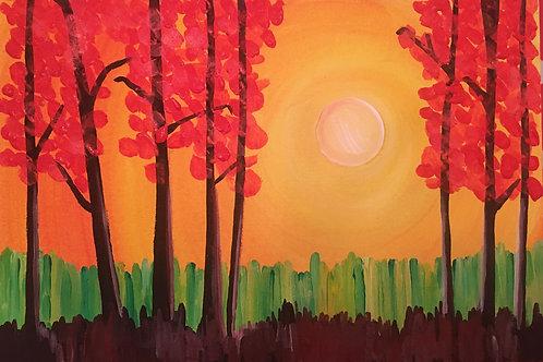 Art to Go! Spring sunset.
