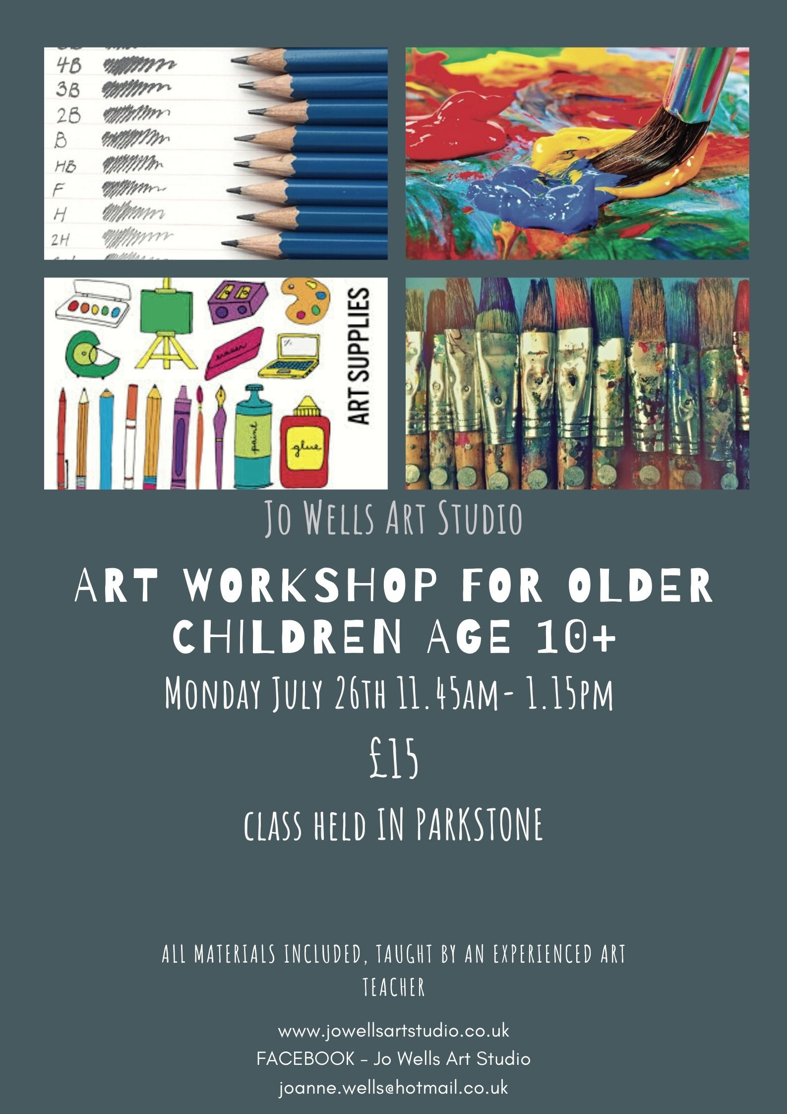 Holiday art session for children age 10+