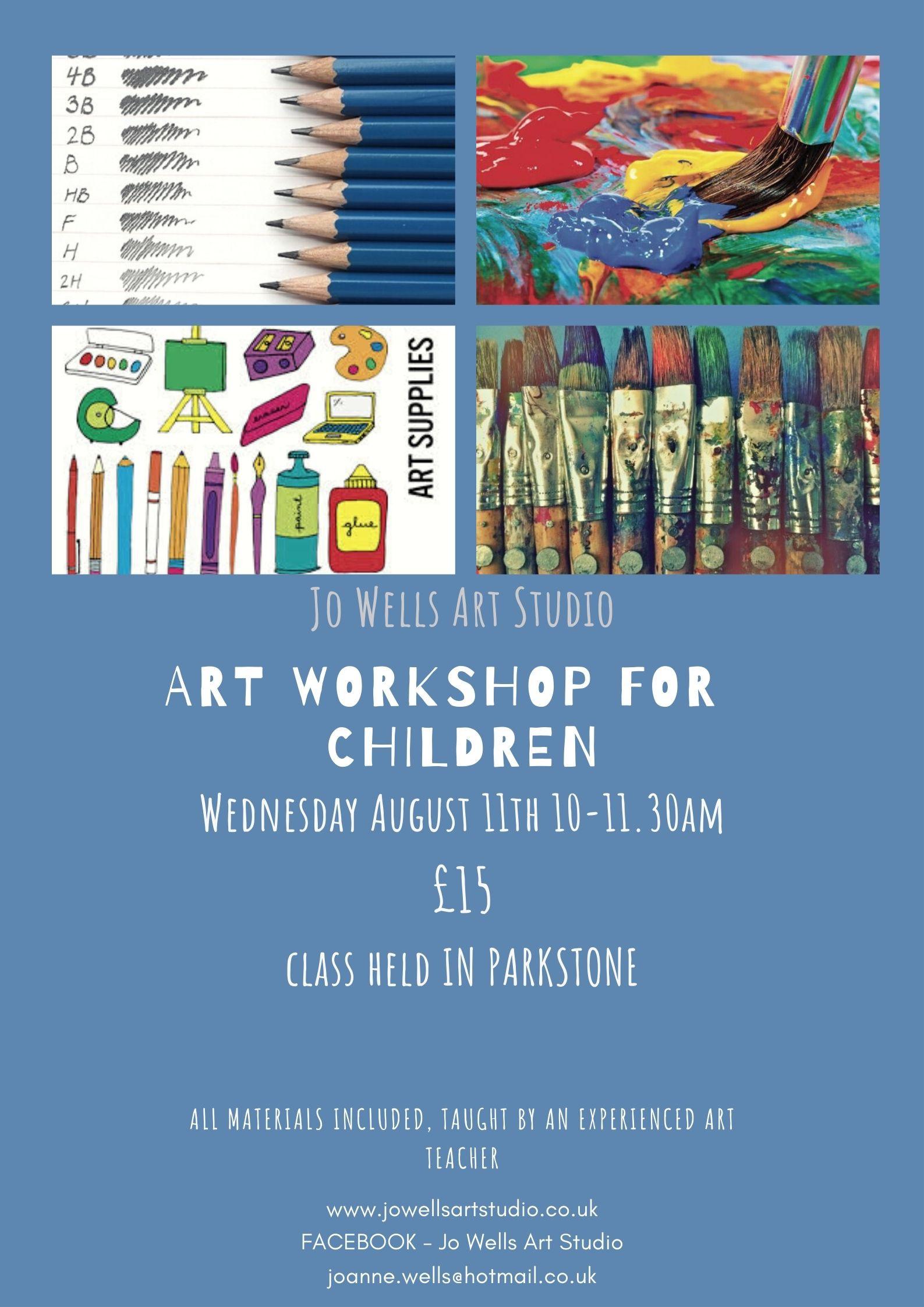 Summer Holiday art class August 11th