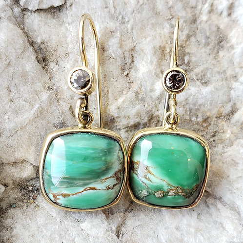 Varascite dangle earrings