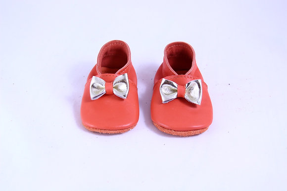 Chaussons Rose Orange, 6-12 mois