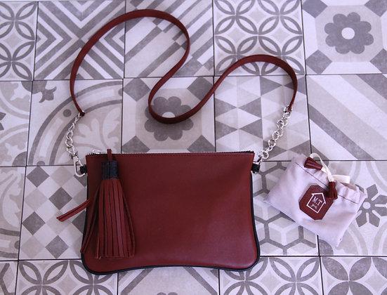 Pochette Clémentine Rouge H & Noir
