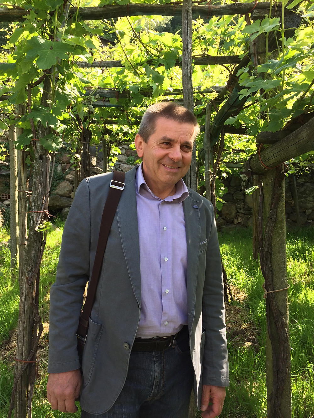 Maurizio Forgia, the man in charge of wine-making in Carema