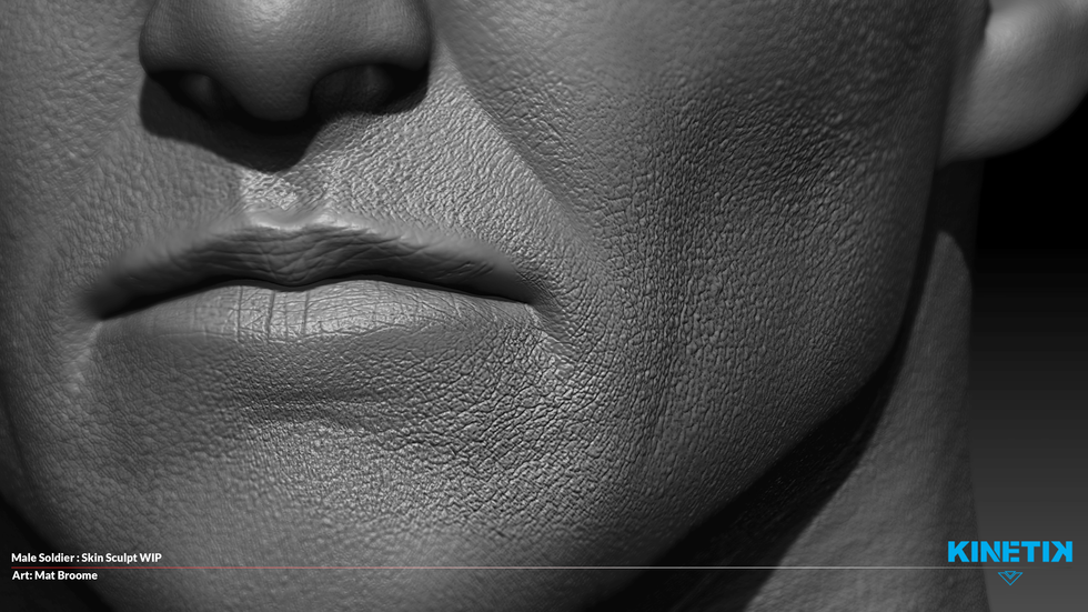Making the Game Ep 003: Sculpting Skin Detail Part One (The Mouth Cavity)