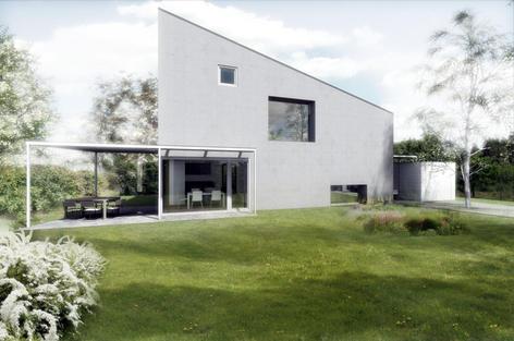 Rodinný dům v Újezdě u Průhonic je ve fázi prováděcího projektu.
