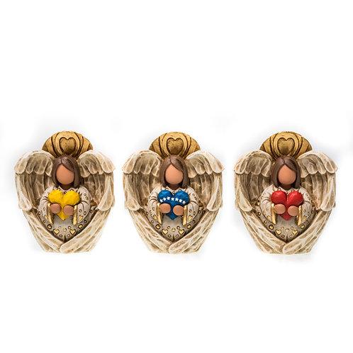 Trio Corazones Bolita Tricolor